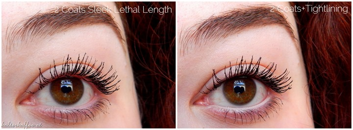Sleek Make Up Lethal Length Mascara applied