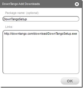 DownTango rilevamento link copiato