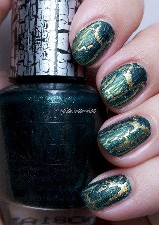 OPI Green Shatter over Spotted the Lizard