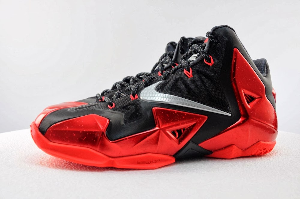 6f8210c145a Detailed Look at Nike LeBron XI Miami Heat Away ...