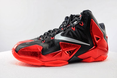 nike lebron 11 gr black red 5 02 Detailed Look at Nike LeBron XI Miami Heat Away