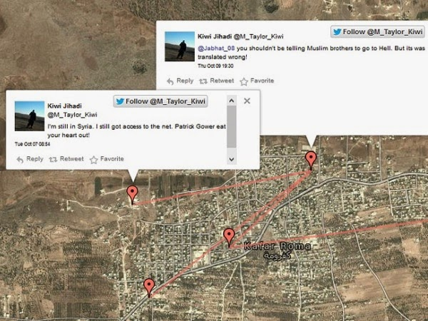 Tweet Locations Mark Taylor of NZ