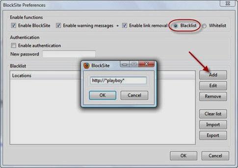 Blocksite- extensión Firefox para bloquear páginas web