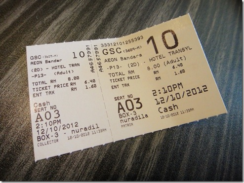 Hotel Transylvania movie ticket