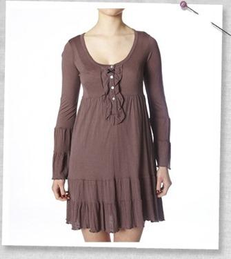 #801 Blenda short dress vinrage brown