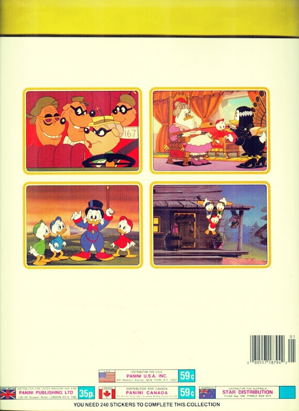 Ducktales Sticker Book Back Side