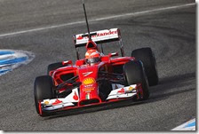 Raikkonen nei test di Jerez 2014