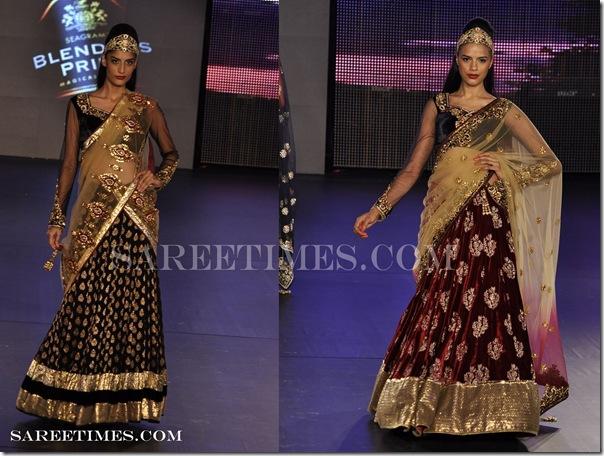 Vikram_Phadnis_Designer_Half_Saree