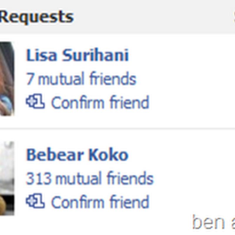 Lisa Surihani add aku di Facebook weh !