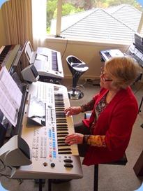 Marlene Forrest played Barbara McNab's Yamaha Tyros 4