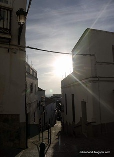 steep cobbled streets