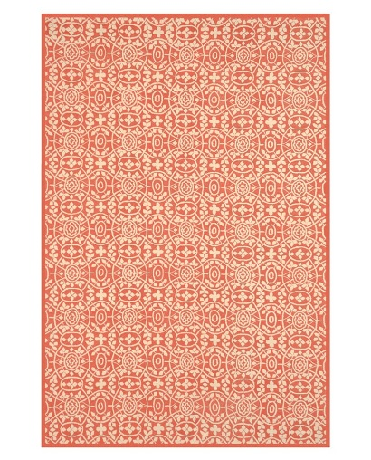 I love the color and traditional pattern of this rug. It reminds me of Native American inspired camp style.  (Martha Stewart for macys.com)
