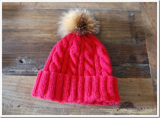 ALPINE ANGEL RED CASHMERE BEANIE1