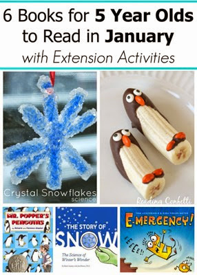 January Books for 5 year olds with extension activities