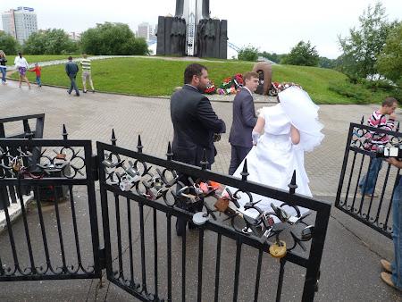 Imagini Belarus: nunta la insula lacrimilor