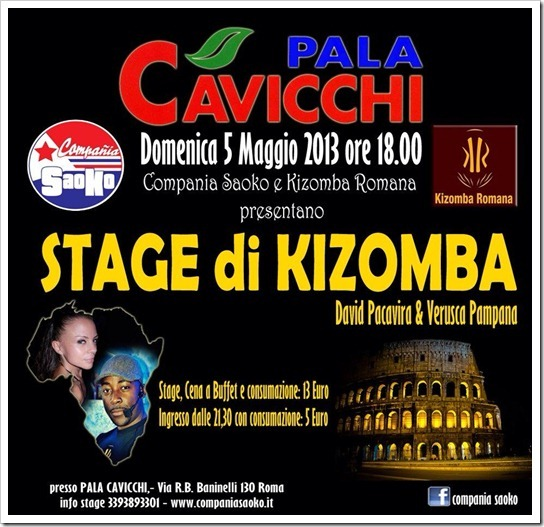 5 Maggio 2013 STAGE DI KIZOMBA