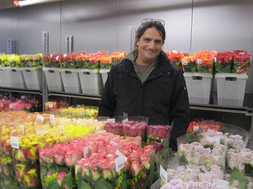 Here is Natan Alpert, managing director of Wholesale Floral, Inc. He is a flower expert and was full of interesting facts about roses.