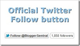 official twitter follow button