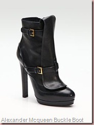 ALEXANDER MCQUEEN Leather Buckle Ankle Boot