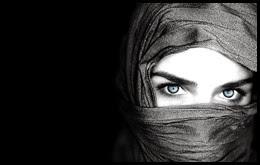 Глаза, лицо, черный фон, 1920x1200