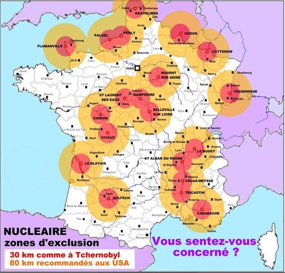 mapa del dangièr nuclear nacionalista francés