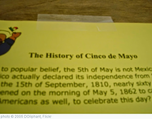 ''The History of Cinco de Mayo'' photo (c) 2005, DOliphant - license: https://creativecommons.org/licenses/by/2.0/