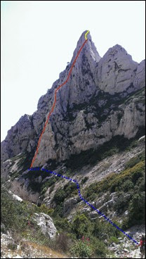 L'arete du Vallon acceso