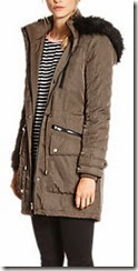 Warehouse quilted sleeve parka