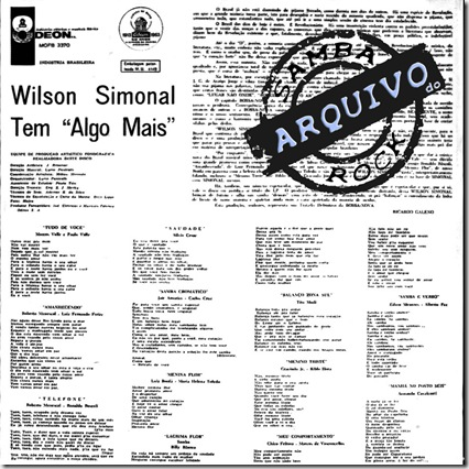 wilson simonal 1963 tem algo mais [odeon mofb 3370] b