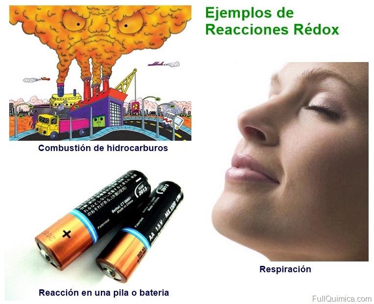 Ejemplos de reaccion redox