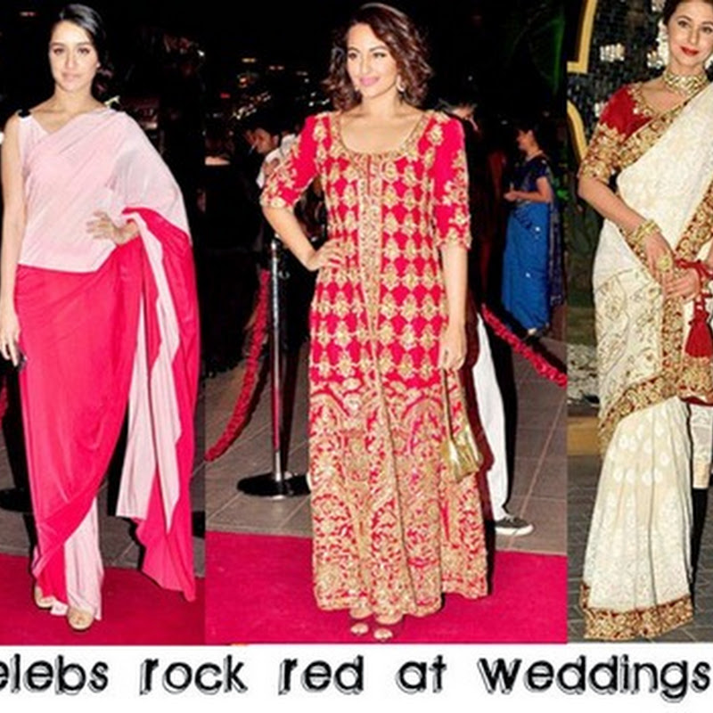 Celebs Are Rocking The Red Colour As An Wedding GuestsWhen Dressing Up For Indian It Is Always Reccomended To Not Wear Bright Reds And Pinks