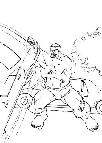 hulk-destruindo-carro-colorir