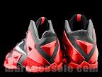nike lebron 11 gr black red 4 06 New Photos // Nike LeBron XI Miami Heat (616175 001)