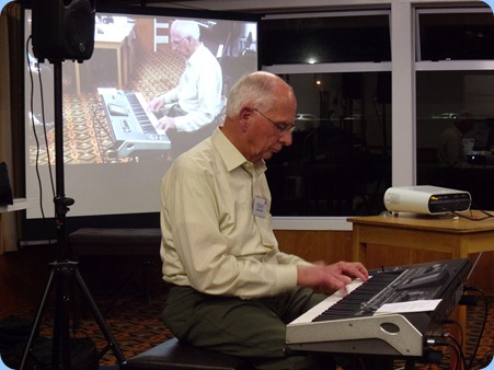 Our guest artist for the evening, John Perkin, played his Korg Pa3X with some stunning original arrangements of easy listening classics such as: Summertime and Georgia.