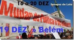 Concentração-vigília junto à presidência -  19 DEZ. Nov.2013