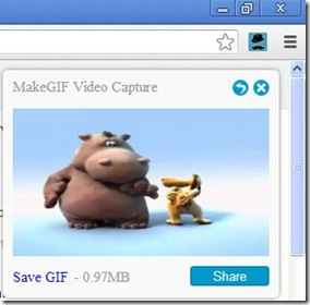 MakeGIF per Chrome salvare la GIF animata