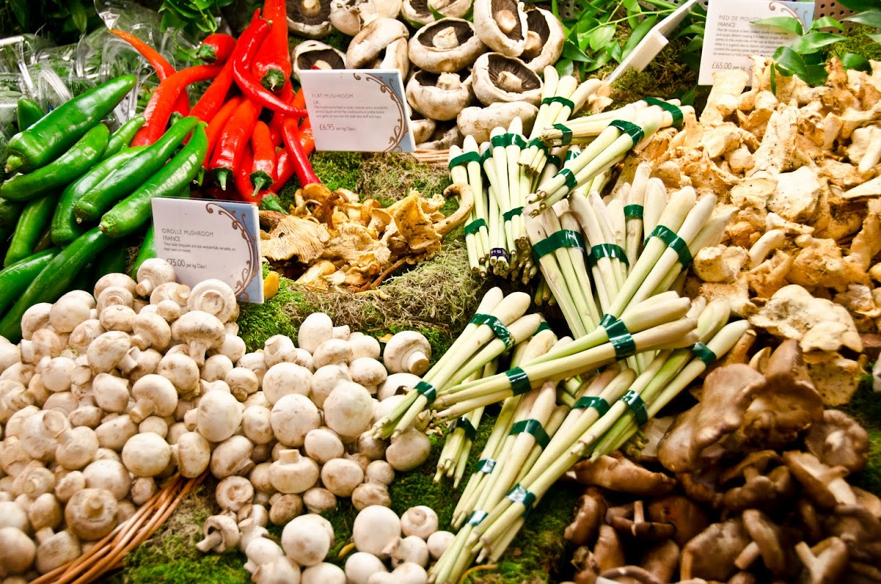 Vegetables at Harrods