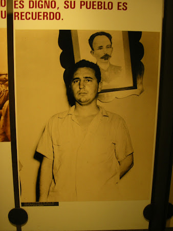 Picture of young Fidel Castro without beard
