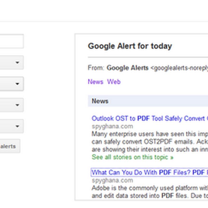 ใช้งาน  Google Alert แจ้งข่าวสารใหม่ ๆ ไปยัง Gmail