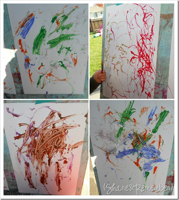 painting with sticks in preschool 3