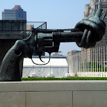 knot in a revolver in New York City, New York, United States