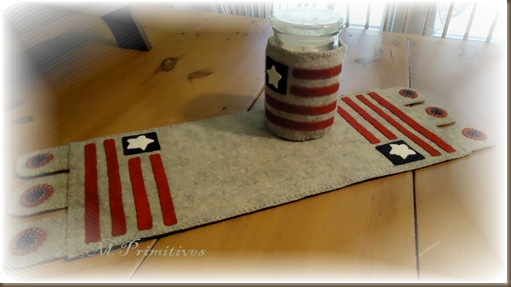 Americana Penny Rug and hugger