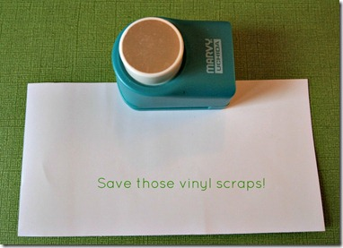 Vinyl Scraps and Punch