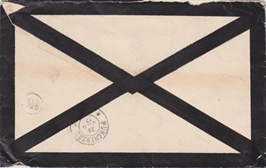 Luxembourgian philately a heavy registered 1901 mourning for Colmar berg piscine