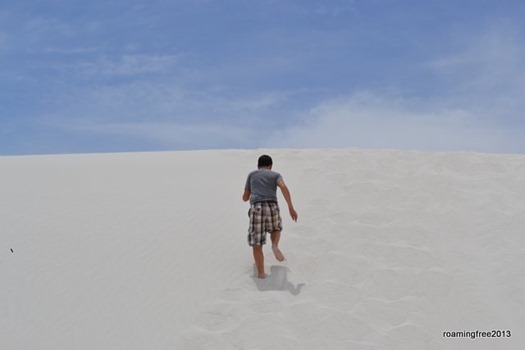 Not big dunes, but they're steep!