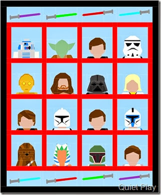 Star wars quilt layout