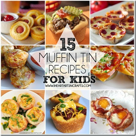 15 Main Dish Muffin Recipes Kids will LOVE! So many yummy dinner ideas for kids.