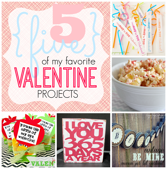 5 of my favorite Valentine Projects #Valentine GingerSnapCrafts.com