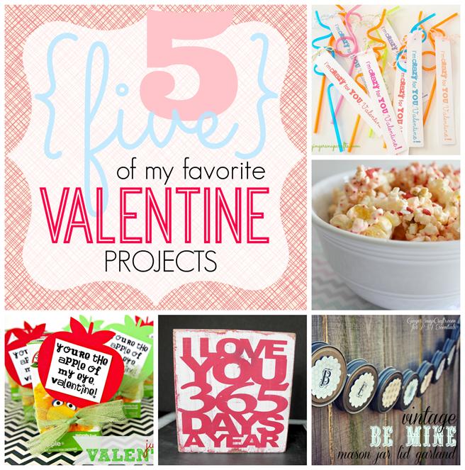 5 of my favorite Valentine Projects #Valentine GingerSnapCrafts.com