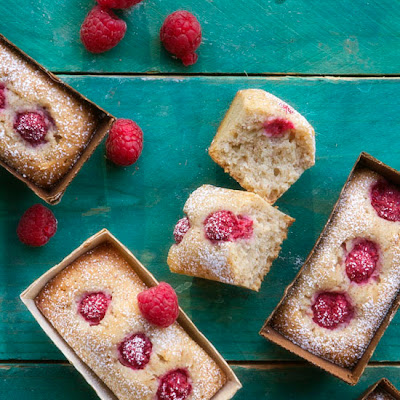 Coconut and Raspberry Financiers